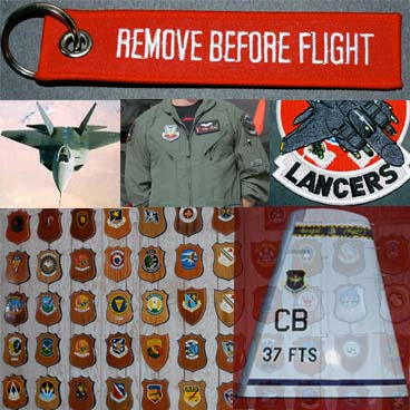 Military patches, flags, key flags, F22